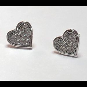 925 Sterling Silver Simulated Diamond Heart